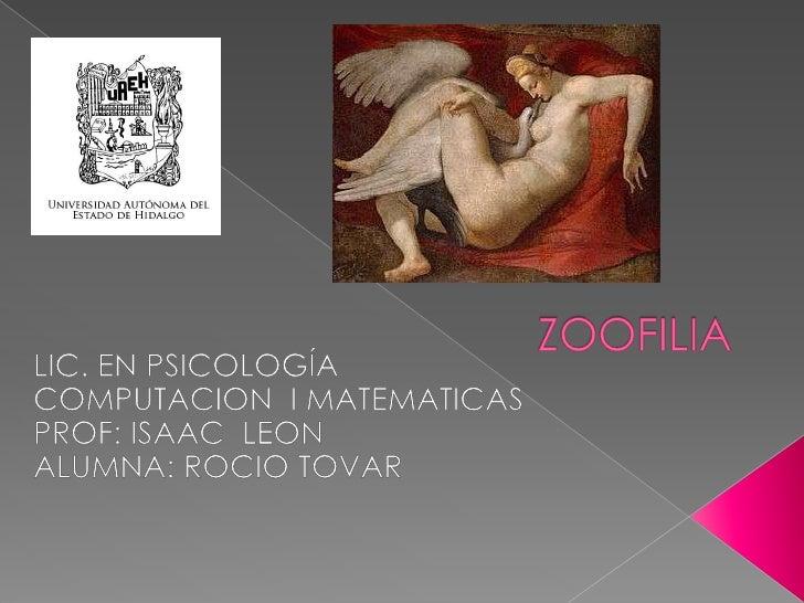 Para las relaciones sexuales entreunser humano y un animal, Kraf-Ebingacuñó el término zoofilia que vino asustituir al ant...