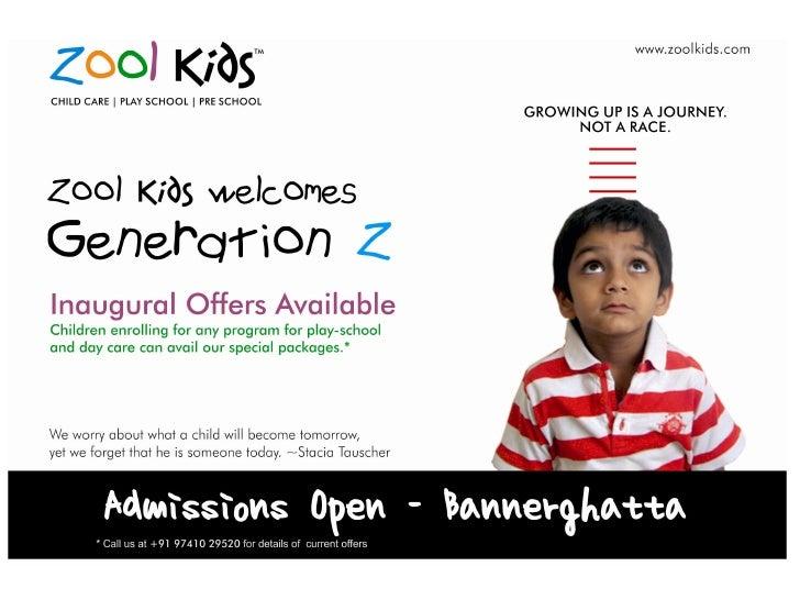 Zool Kids Admission Pamphlets