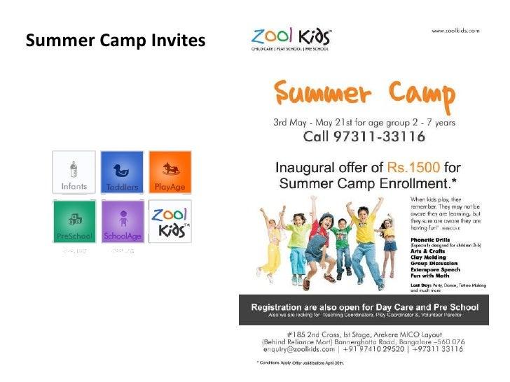 Summer Camp Invites