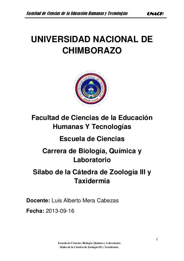 Zoología iii y taxidermia..