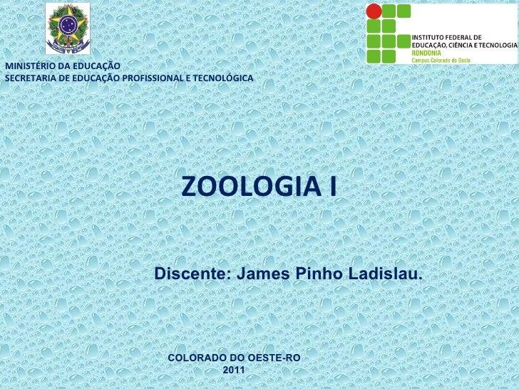 MINISTÉRIO DA EDUCAÇÃOSECRETARIA DE EDUCAÇÃO PROFISSIONAL E TECNOLÓGICA                                  ZOOLOGIA I       ...