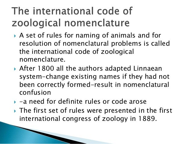 international code of nomenclature pdf