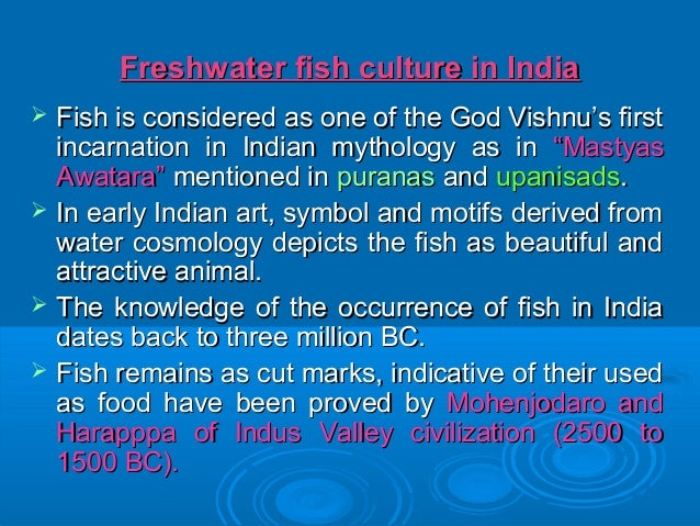 Freshwater, Brackish water and Marine fish culture of India