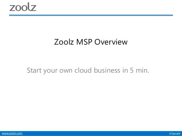 Zoolz Reseller Overview