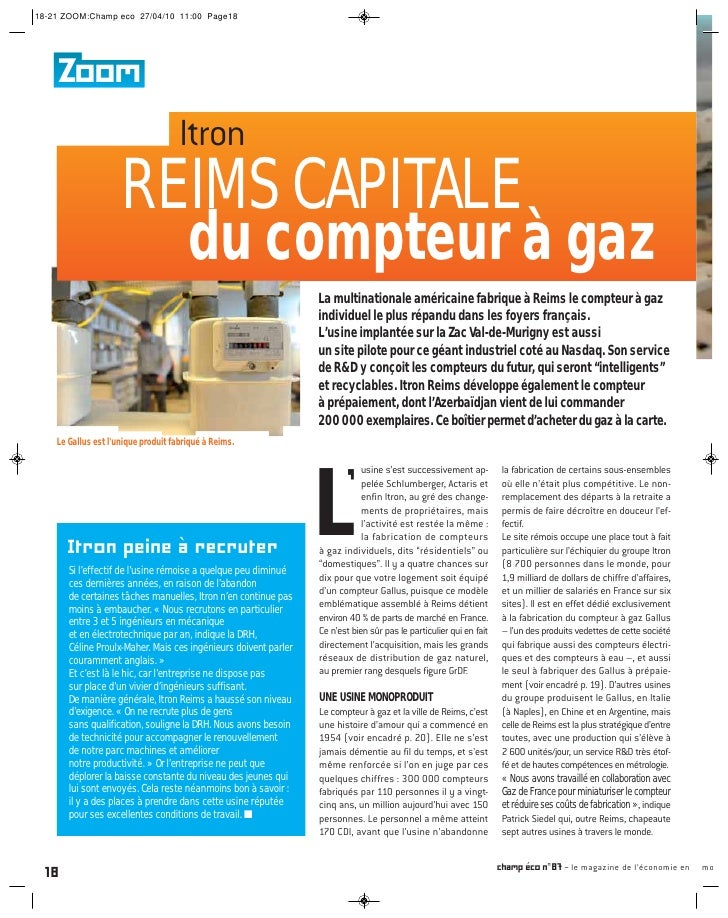 18-21 ZOOM:Champ eco 27/04/10 11:00 Page18    Zoom                                     Itron                     REIMS CAP...