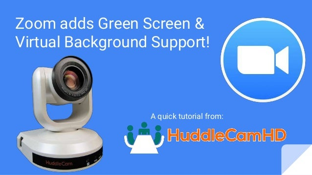Zoom Adds Green Screen Virtual Background Support