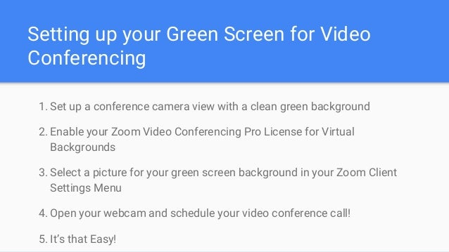 Zoom adds green screen & virtual background support!