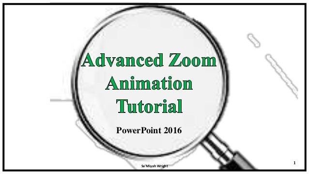 Zoom animation feature in ppt