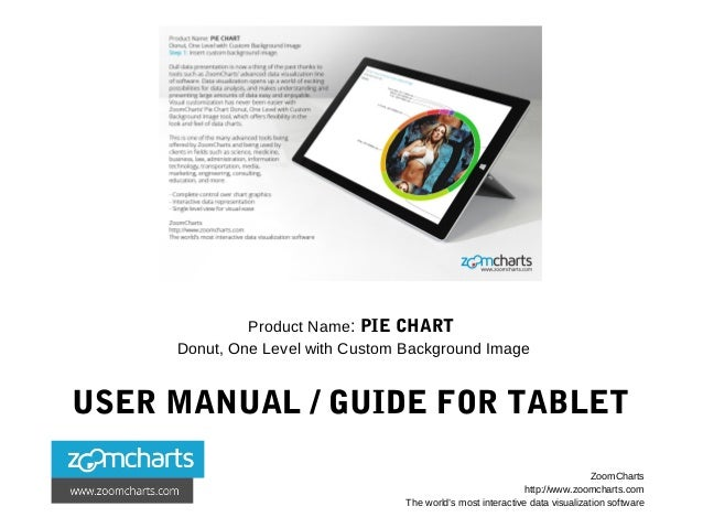 Product Name: PIE CHART Donut, One Level with Custom Background Image USER MANUAL / GUIDE FOR TABLET ZoomCharts http://www...