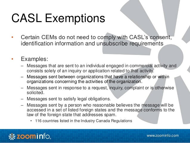 Canada's New Anti-Spam Legislation (CASL): What You Need to Know Webi…