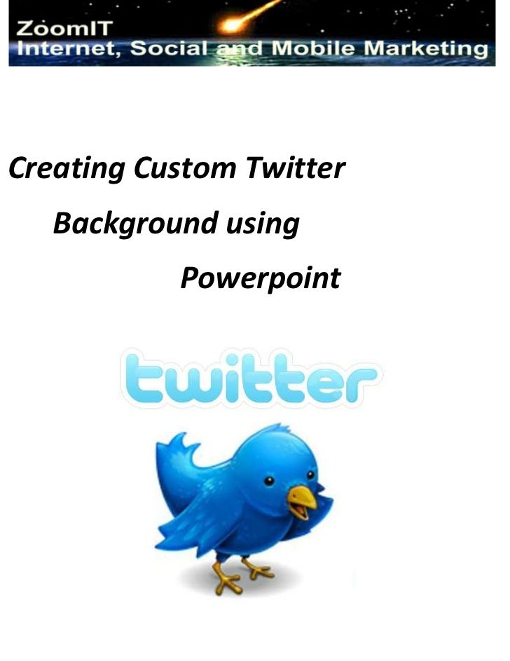 zoomit twitter custom background using powerpoint