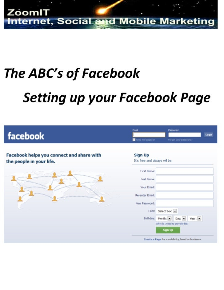 The ABC's of Facebook   Setting up your Facebook Page