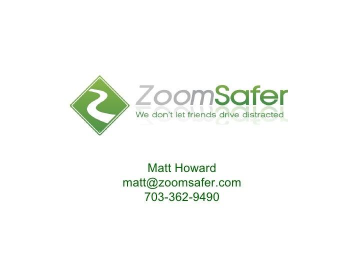 Product and Service Description Matt Howard [email_address] 703-362-9490