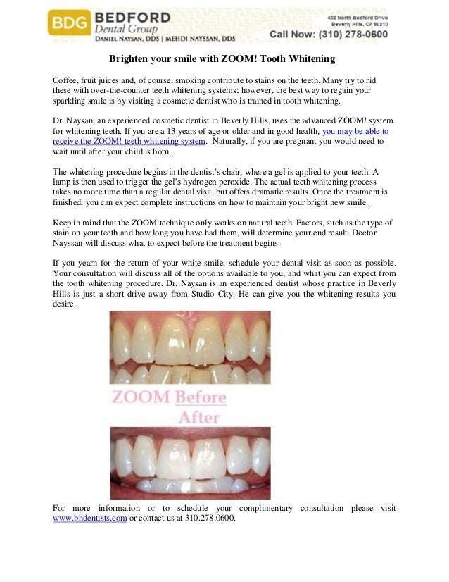 Brighten Your Smile With Zoom Tooth Whitening
