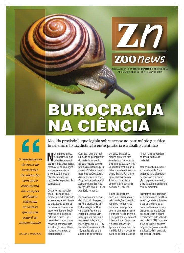 jornal do 29˚ congresso brasileiro de zoologia                                                                            ...