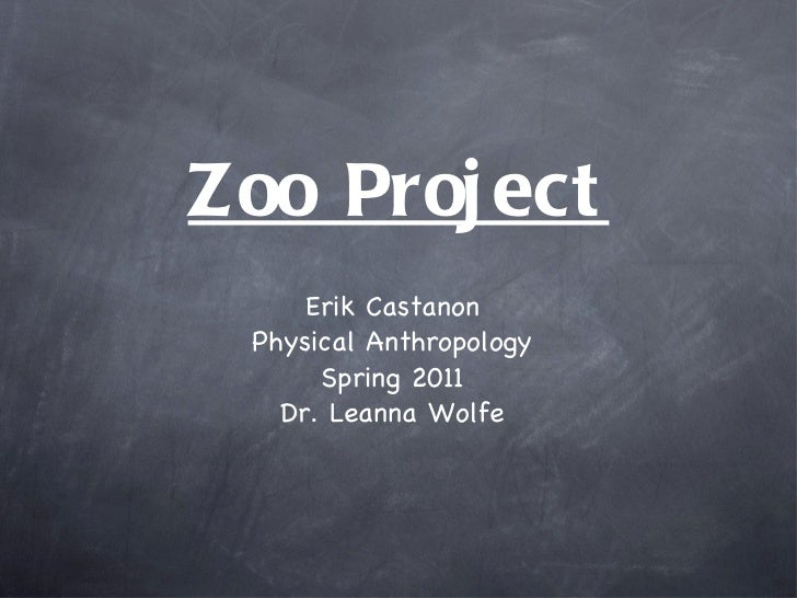 Zoo Project <ul><li>Erik Castanon </li></ul><ul><li>Physical Anthropology </li></ul><ul><li>Spring 2011 </li></ul><ul><li>...