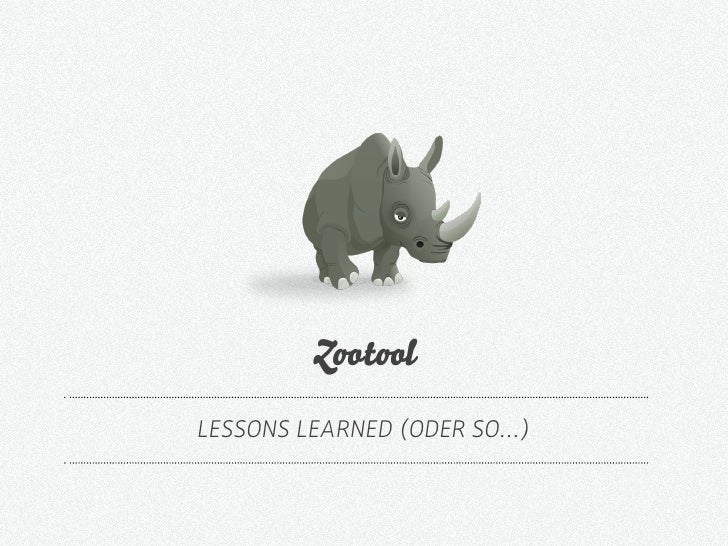 Z t l LESSONS LEARNED (ODER SO…)