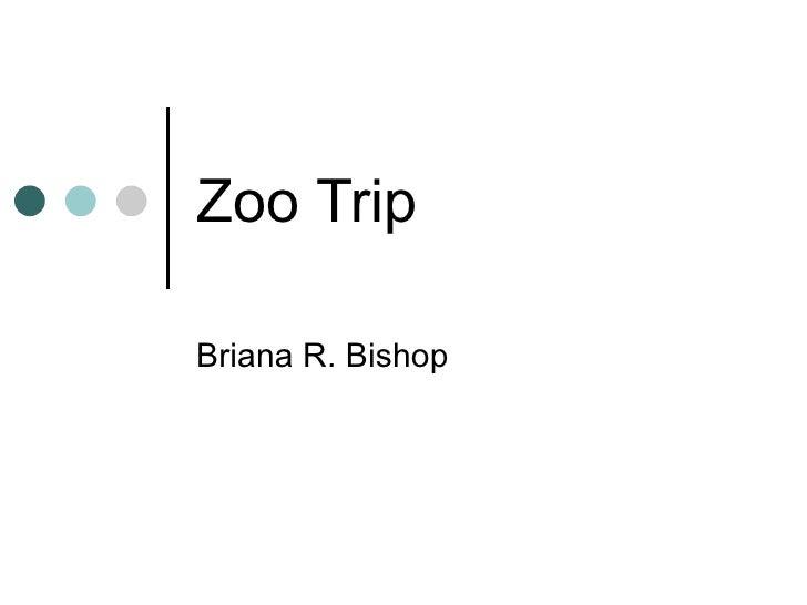 Zoo Trip Briana R. Bishop