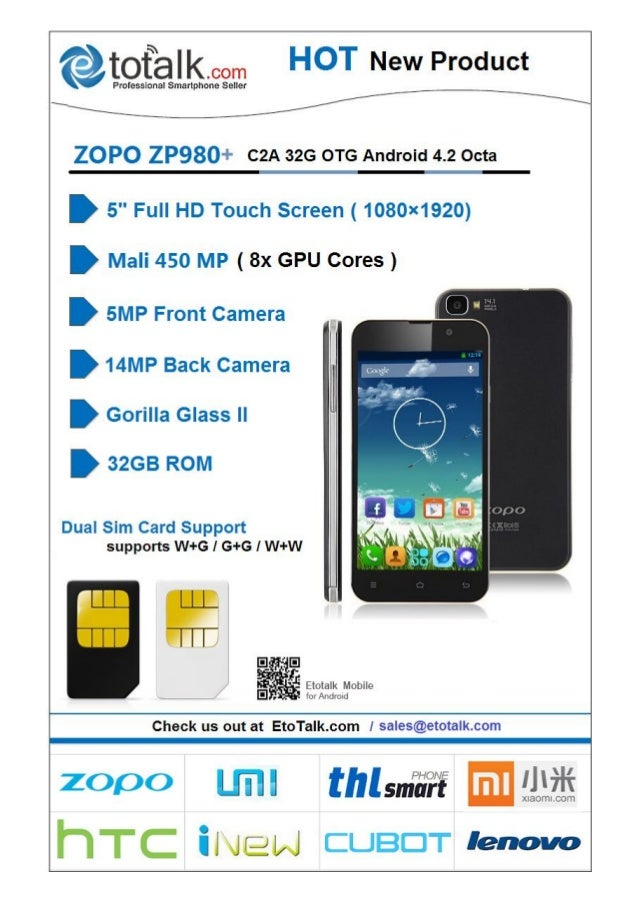 Zopo zp980 Plus 5 inch Full HD Screen MT6592 OCTA Core CPU Android Mobile Phone
