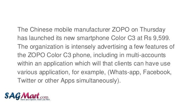 Zopo color c3 launched 4 g smartphone with multi account app feature at rs.9,599  Slide 3
