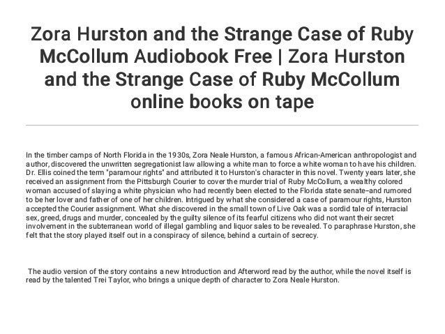 zora hurston and the strange case of ruby mccollum