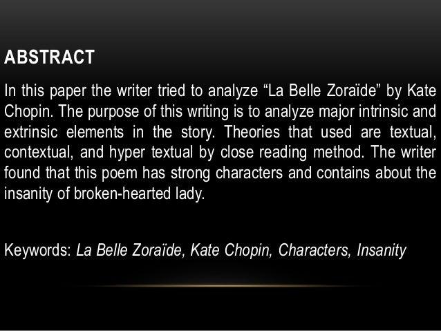 'La Belle Zoraide' by Kate Chopin