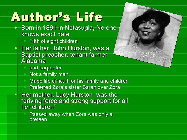 zora neale hurston reflection in her work Zora neale hurston: zora neale hurston, american folklorist and writer associated with the harlem renaissance who celebrated the african american culture of the rural south her notable novels included mules and men, their eyes were watching god, and moses, man of the mountain learn more about hurston's life and works.