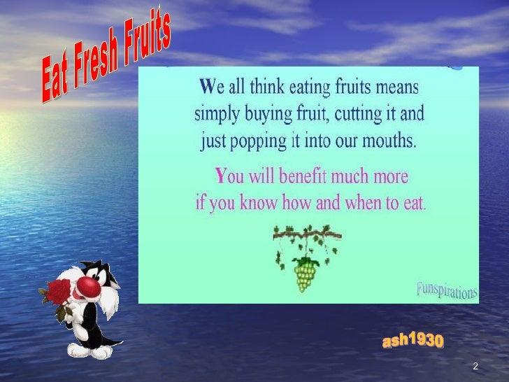 Fresh Fruits Slide 2