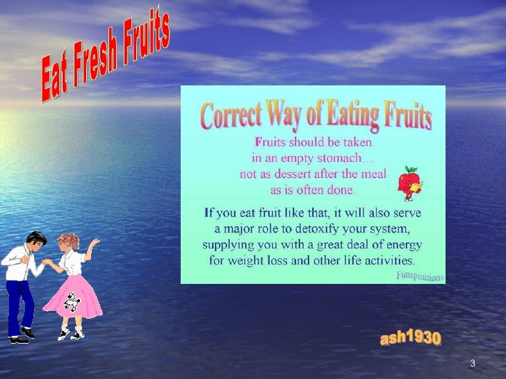 Fresh Fruits Slide 3