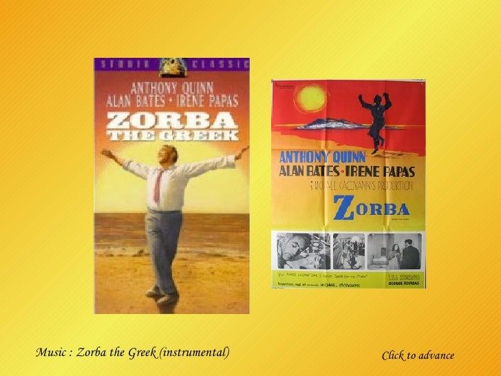 Click to advance Music : Zorba the Greek (instrumental)