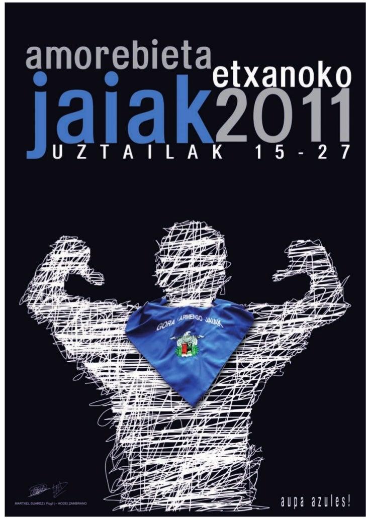 Hodei Zambrano eta Martxel Suarez diseinaturiko   Cartel diseñado por Hodei Zambrano y Martxelkartela Amorebieta-Etxanoko ...