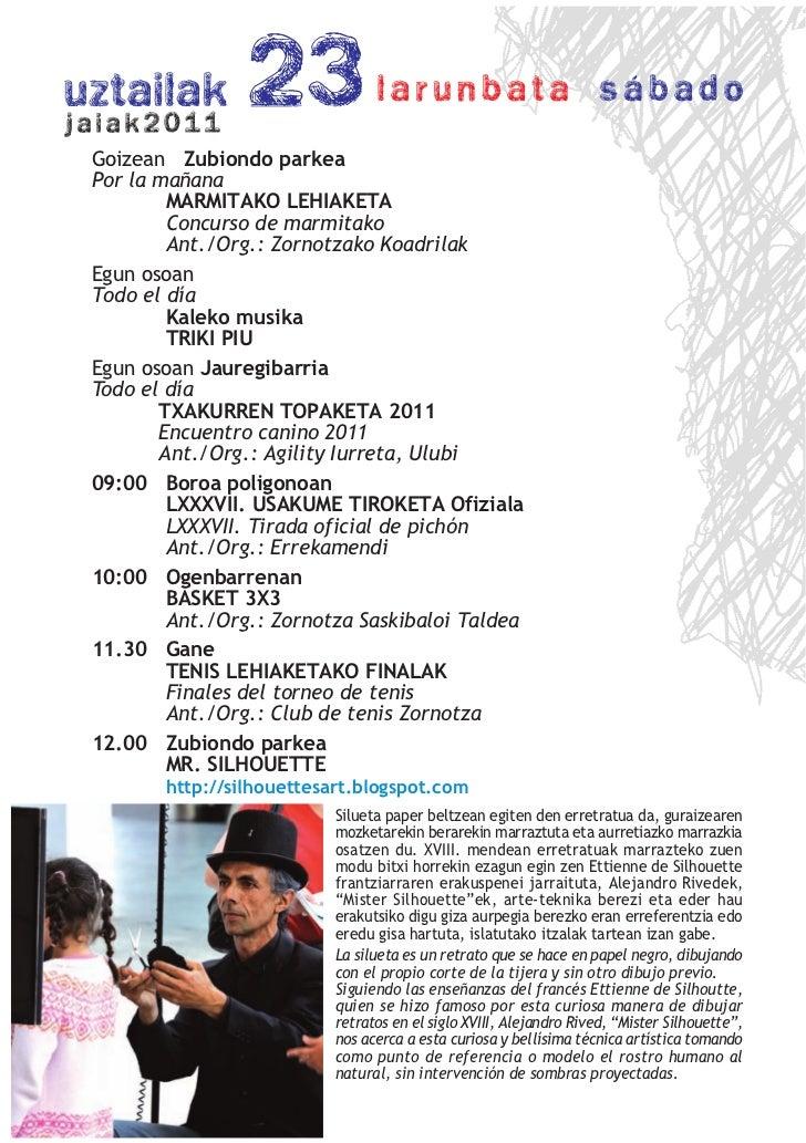 Goizean Zubiondo parkeaPor la mañana        MARMITAKO LEHIAKETA        Concurso de marmitako        Ant./Org.: Zornotzako ...