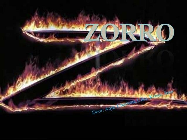 """Zorro voorstellen Echte naam Don Diego de la Vega Betekenis naam """"vos"""" Zwart gekleed Altijd een masker op Cape en hoe..."""