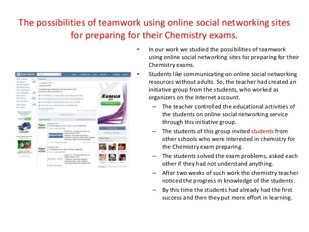 Teamwork for Learning Chemistry Using Online Social Networking Resour…