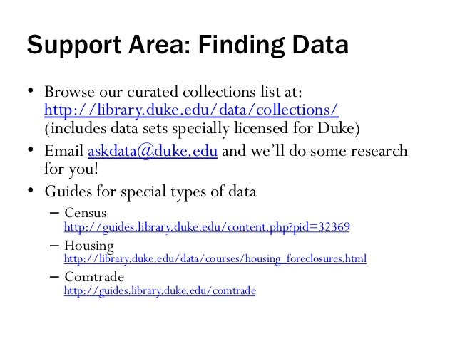 Data & GIS Services, Duke University