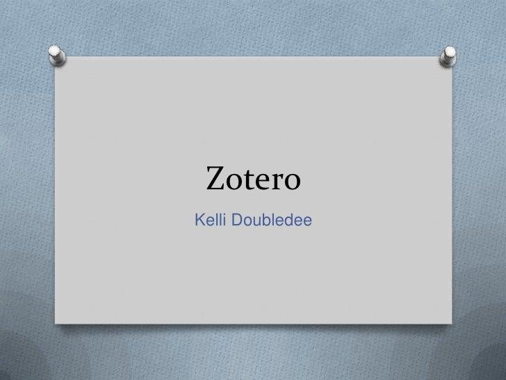 ZoteroKelli Doubledee