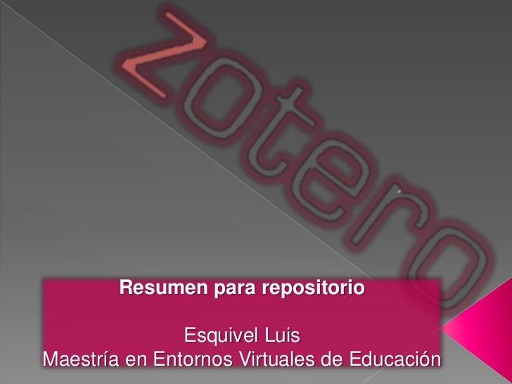 Resumen para repositorio               Esquivel LuisMaestría en Entornos Virtuales de Educación