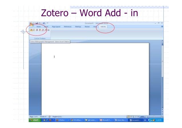 Add On Zotero Word