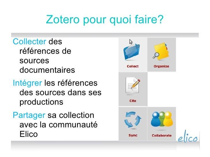 Zotero Pour Elico Slide 2