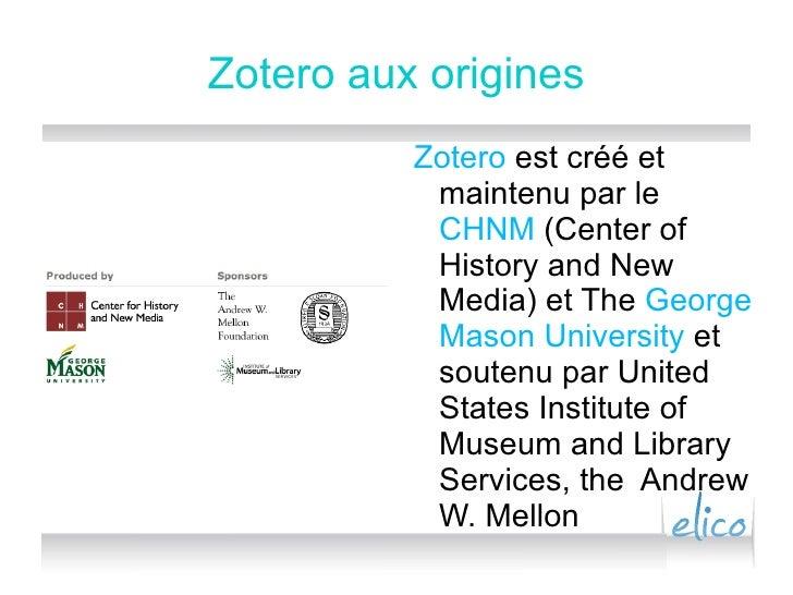 Zotero Pour Elico Slide 3