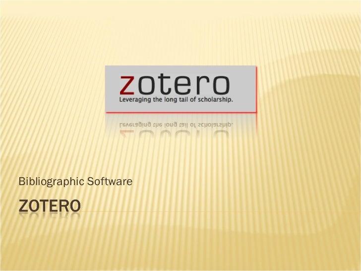 Bibliographic Software