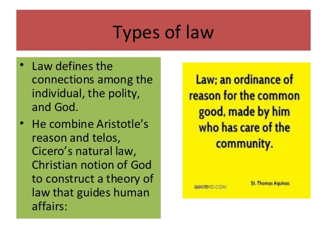the theories of thomas aquinas on the four kinds of laws eternal natural human and divine Against the new natural law theory's view of the common good as limited,  instrumental  in fundamental agreement with the teaching of st thomas  aquinas  sake, one that satisfies a natural inclination4 the civitas is necessary  because indi-  the kind of community to which human law is ordered is different  from that.