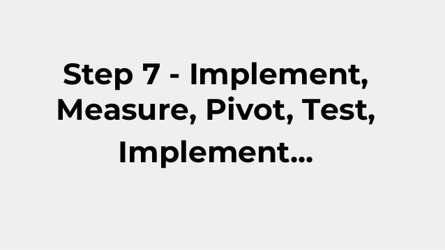 Sales strategy development