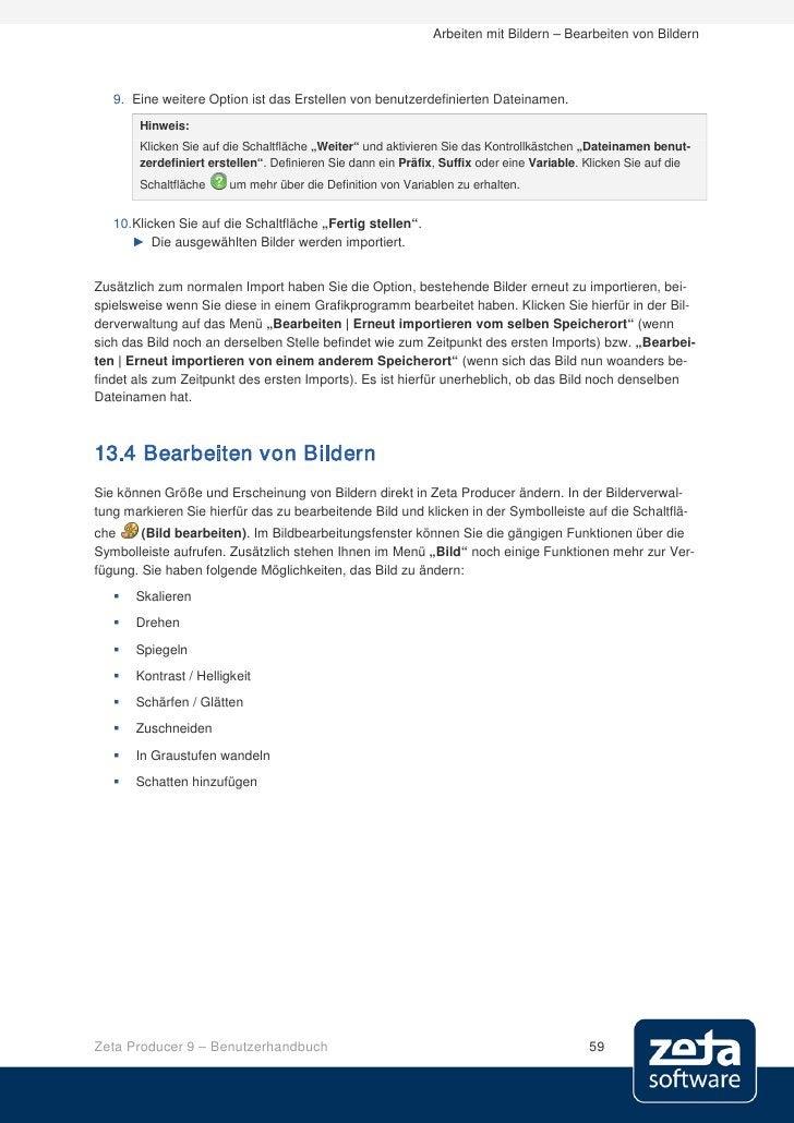 Benutzerhandbuch Zeta Producer 9 CMS
