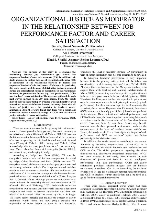 relationship between job performance and job When does job security affect job performance  job security has rapidly  the researchers initially examined the relationship between job insecurity and.