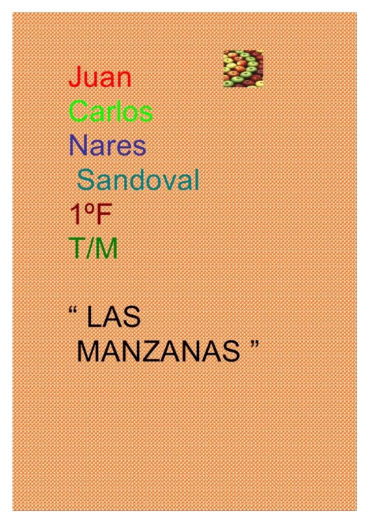"""Juan Carlos Nares  Sandoval 1ºF T/M  """" LAS  MANZANAS """""""