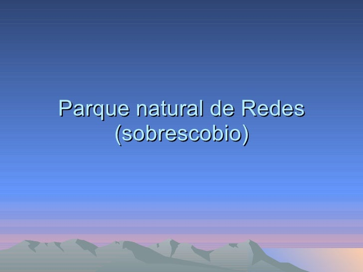 Parque natural de Redes (sobrescobio)