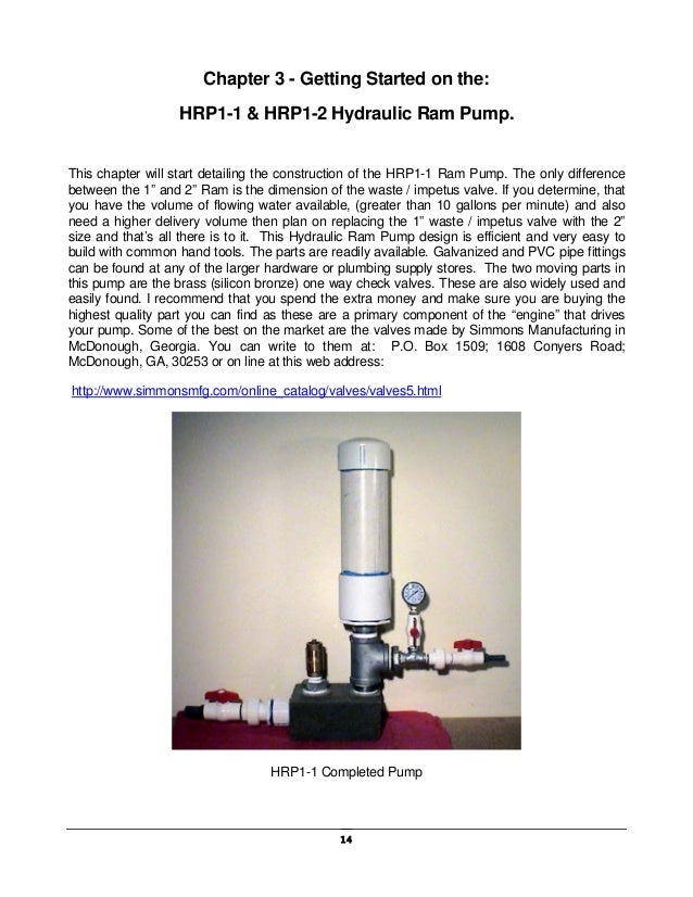 how to build a hydraulic ram pump pdf