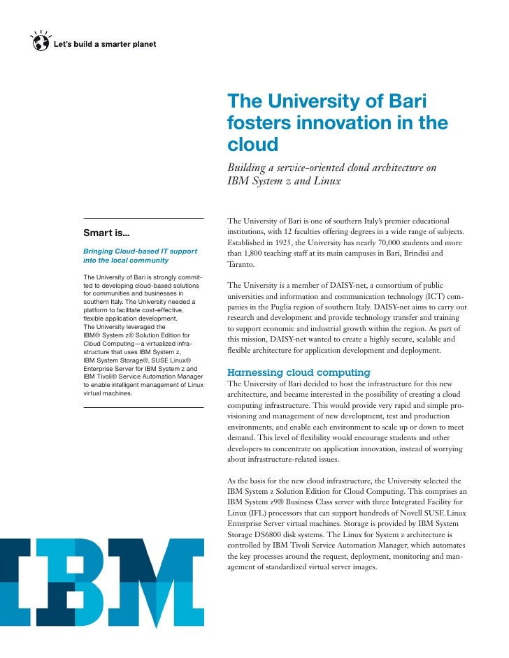 The University of Bari                                             fosters innovation in the                              ...