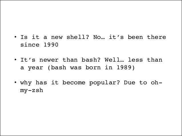 Zsh shell-for-humans Slide 3